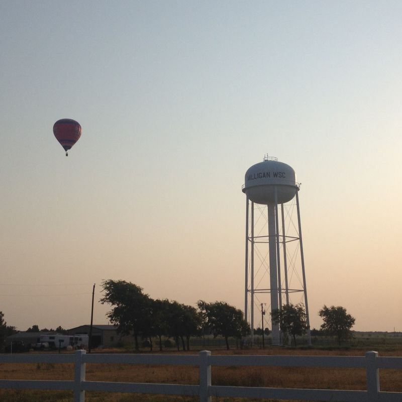 Milligan WSC water tower early morning